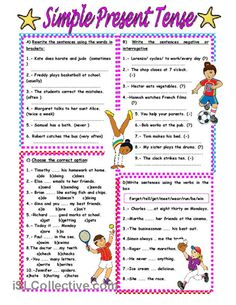 SIMPLE PRESENT TENSE worksheet - Free ESL printable worksheets made by teachers