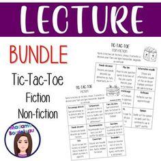 Dans ce bundle, il y a 6 tableaux ayant 9 activités qui sont en lien avec des romans ou des livres du genre non-fiction et fiction. De plus, il y a une page accompagnatrice pour chacune des activités afin de guider les élèves avec la mise en page. Veuillez regarder les images afin d'avoir une aperçu... Future Classroom, Classroom Ideas, Non Fiction, Tic Tac Toe, Genre, Afin, Romans, Images, Learning