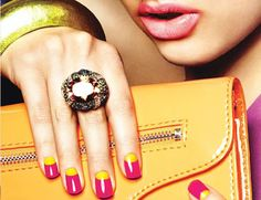 Awesome color blocking for your nails