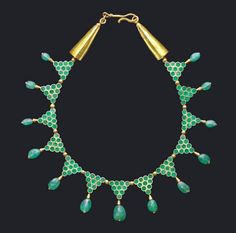 Byzantine Gold and Emerald Necklace, 6th-7th Century AD