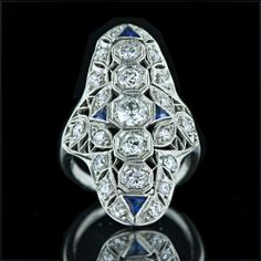 Edwardian Platinum and Diamond Ring