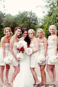 # Summer Bridesmaid short dresses in light turquoise