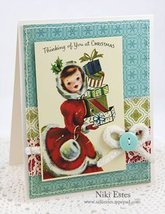 vintagey goodness from october afternoon....I think this could be a great way to maybe recycle some much older cards.....