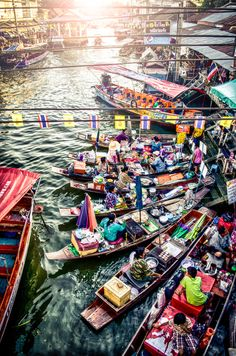 Thailand river market by andy kong, via 500px
