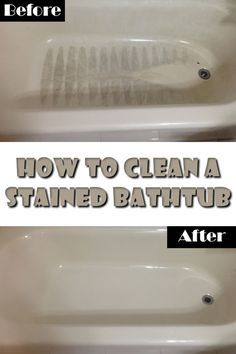 A stained bathtub will worsen the entire appearance of your bath. Find out how to clean the tub and make it look like a new one in the following article.