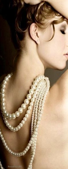 Pearl Jewelry, Pearl Necklace, Pearl And Lace, Boudoir Photography, Boudoir Photos, Girls Wear, Girly Girls, Girls Best Friend, Jewelry Accessories