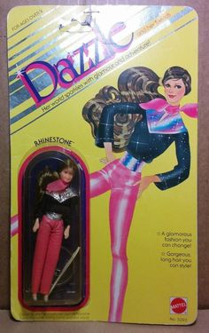 """Mattel Dazzle Fashion Doll MIP 1981 4.5"""" Rhinestone Kenner Glamour Gals Nasta"""