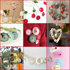 button collage projects