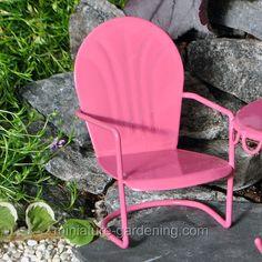 Art Deco Lawn Chair  #Miniature-Gardening.com  #fairy #garden