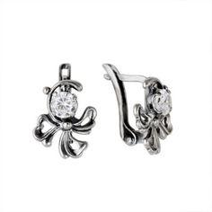 small silver earrings