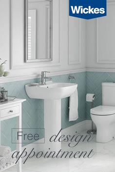 Book your free design appointment at Wickes today. With a wide range of stunning kitchens/bathrooms to choose from, we're here every step to help create your dream space; from inspiration to installation. Bad Inspiration, Bathroom Inspiration, Bathroom Ideas, Interior Decorating Tips, Interior Design, Upstairs Bathrooms, Family Bathroom, Cottage Interiors, Free Design