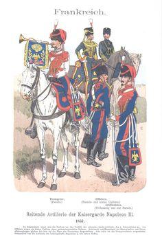 Band VI #59.- Frankreich. Reitende Artillerie der Kaisergarde. 1857.