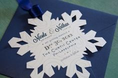 Cute Wedding invitations, if your wedding will be in the winter!