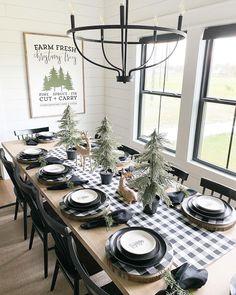 Christmas Table Settings, Christmas Tablescapes, Christmas Table Decorations, Christmas Decor, Plaid Christmas, Christmas Stuff, Christmas Tree, Budget Blinds, Elegant Table Settings
