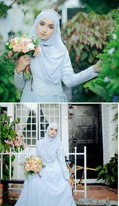 # & Hijab & wedding dress Hijab We Muslim Wedding Gown, Malay Wedding Dress, Kebaya Wedding, Muslimah Wedding Dress, Muslim Wedding Dresses, Muslim Brides, Wedding Gowns, Bridesmaid Dresses, Dress Muslimah