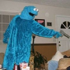 when someone insults sesame street and you remember you have a gun in your pocket