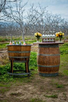 Orange and yellow outdoor wedding  |  The Frosted Petticoat