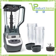 Ninja Professional Countertop Blender with Base, Total Crushing Pitcher and Cups for Frozen Drinks and Smoothies Electric Countertop Blenders: Kitchen & Dining Ninja Mixer, Ninja Blender, Best Smoothie, Smoothie Mixer, Good Smoothies, Smoothie Recipes, Green Smoothies, Veggie Smoothies, Detox Smoothies