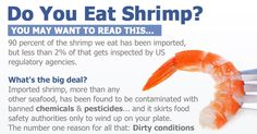 For the past several years, I've increasingly recommended avoiding most seafood due to widespread contamination, primarily by mercury, PCBs and other environmental pollutants. A recent article may make you think twice about eating shrimp, unless you know it's wild-caught from a clean source.
