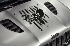 Jeep Car Truck Suv Hood Eagle Wings Stars Stripes USA Flag Vinyl Sticker Decal #UnbrandedGeneric