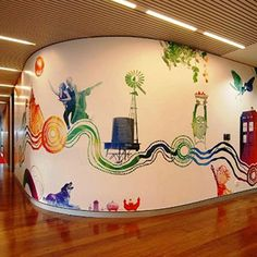 21 incredibly cool design office murals | Office mural, Creative ...