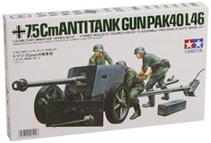German 75mm Anti-tank Gun - 1:35 Scale Military - Tamiya -  The 7.5 cm anti-tank gun was to become the main and typical anti-tank weapon of the German Army. It was often towed by the 3-ton trator Sdkfz 11. With the progress of the war situation, the gun combined with the chassis of fighting vehicles including the Pzkpfw IV to make up a great number of tank destroyers or self-propelled anti-tank guns that rendered distinguished services thereafter. Highly detailed 1/35 scale