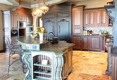 Custom Kitchen Cabinets THE KITCHEN!  Side shot