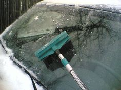 Instead of scraping my windshield... homemade de-icing spray to prevent ice and to remove it...yay!