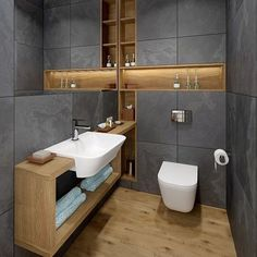 Luxury Bathroom Master Baths Photo Galleries is entirely important for your home. Whether you choose the Luxury Bathroom Master Baths With Fireplace or Luxury Master Bathroom Ideas, you will make the best Small Bathroom Decorating Ideas for your own life. Rustic Bathroom Designs, Wooden Bathroom, Modern Bathroom Design, Bathroom Interior Design, Bathroom Ideas, Bathroom Organization, Bathroom Mirrors, Bathroom Grey, Bathroom Storage