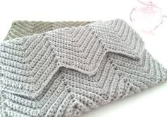 Crochet Clutch Evening Purse Ripple Pattern Bridal by Dushle, $32.00