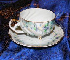 Vintage Teacup Lefton China Violet Heirloom