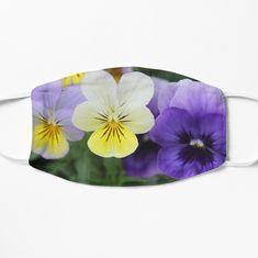 'Italian Garden - Purple & Yellow Pansy' Mask by designenrich Printer Ink Cartridges, Italian Garden, Purple Yellow, Pansies, Face Masks, Art Prints, Printed, Awesome, Cute