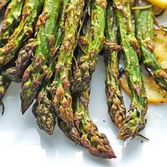 I am a great lover of asparagus, and this is hands down my favorite recipe.   Roasted Asparagus With Lemon And Rosemary