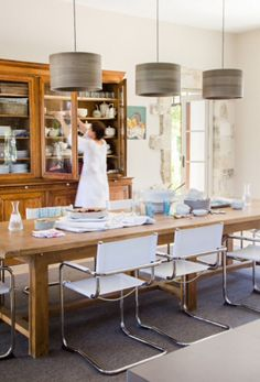 "This wonderful dining area is from our feature ""La Beauté de Provence"" Provence, Clean House, Dining Area, Photographs, Interior Design, Table, Furniture, Home Decor, Nest Design"