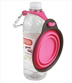 Collapsible Travel Cup with Bottle Holder