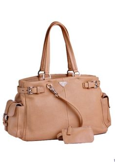 Prada leather handbag tote so cute!