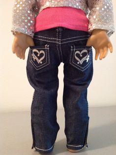 Trendy Dolls - SALE $8 - Skinny Jeans w/Heart Pocket for 18 inch American Girl Dolls, $8.00 (http://www.mytrendydoll.com/18-inch-doll-separates/sale-8-skinny-jeans-w-heart-pocket-for-18-inch-american-girl-dolls/)
