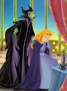 Photo of Aurora and Maleficent for fans of Sleeping Beauty. Aurora and Maleficent.