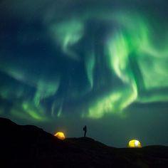 Aurora  Ilulissat Kangerlua, Greenland.