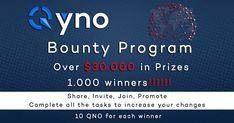 Qyno Bounty - $30.000 Worth in Prizes