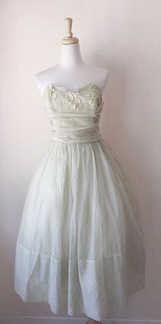 I Like This But Need Straps On My Dress Vintage 50 S Sheer Leaf Lique Tea Length Wedding