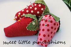 Fabric Strawberries Tutorial - thanks!