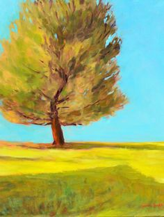 "Original landscape painting tree painting oil 16"" X 20"" impressionist canvas fine art Garima Parakh"
