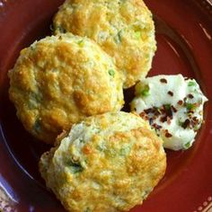Cheddar-Scallion Scones with Jalapeño-Agave Butter