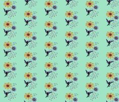 hummingbird fabric by krs_expressions on Spoonflower - custom fabric and wallpaper