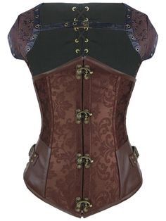 Walkingon #Steampunk #Leather Steel Boned Underbust Corset #Waist #Trainer