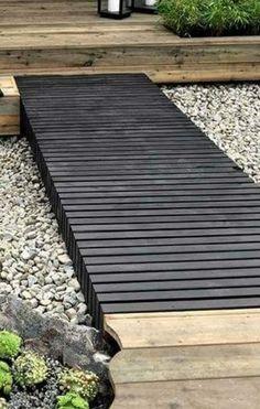 Black Decking Path