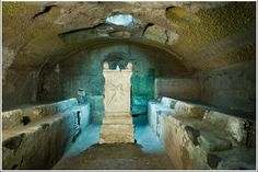 Abandoned Mithraic Cult Chamber in Rome. The Mithraic Mysteries were a mysterious religion practiced in the Roman Empire from about the 1st century A.D. to the 4th century A.D. Worshippers of Mithras had a complex system of seven grades of initiation, with ritual meals. They met in underground temples, which survived in large numbers to present day.