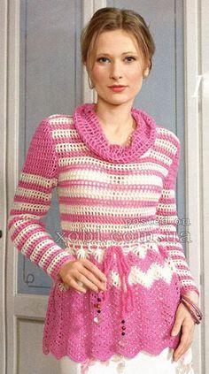 blusa rosa de rejilla