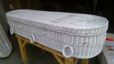 We offer a bespoke painting service and can spray our bio-degradable coffins any colour desired with environmentally friendly paints. Pictured is an Ecoffins Cromer coffin in Brilliant White.